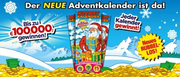 Rubbellos Adventskalender 2019 Österreich