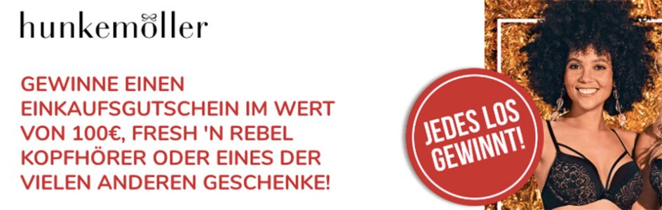 Hunkemöller Geschenk Rubbellos Aktion