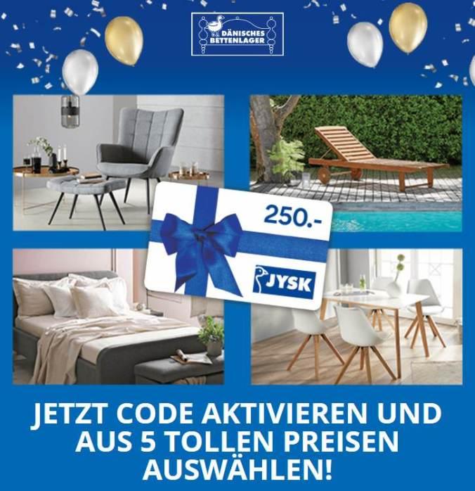 Dänisches Bettenlager 5 Preise Gewinnspiel