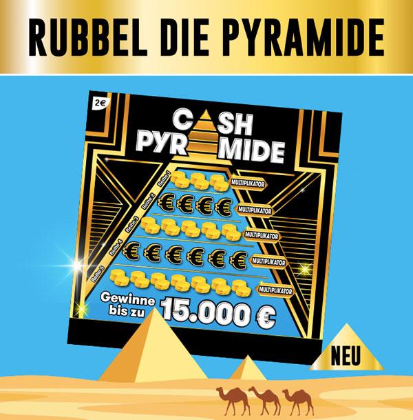 Cash Pyramide Rubbellos von Lotto Hessen