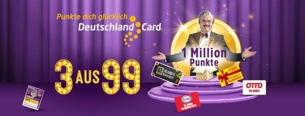 DeutschlandCard Los 3 aus 99