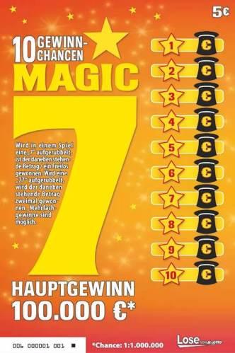 MAGIC 7 Rubbellos in der Frontansicht
