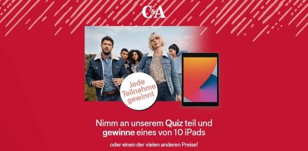 C&A Gewinnen und Quizzen Gewinnspiel