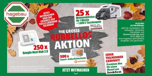 Hagebaumarkt Rubbellos Aktion Artikelbild