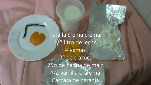 ingredientes crema