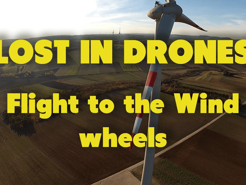 lost in Drones lostindrones DJI Phantom 2 flug über felder windräder gopro3