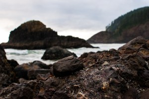 Rocks and Ocean at Ecola State Park in Oregon