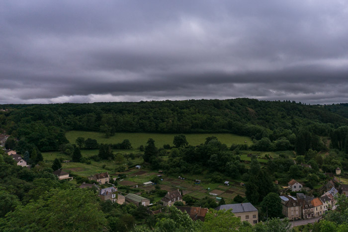 Scenic vista view from a park in Avallon France | Lost Not Found | French Road Trip