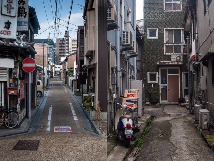 Dyptic of Streets on the Island of Kyushu Japan | LOST NOT FOUND | Top 5 Destinations