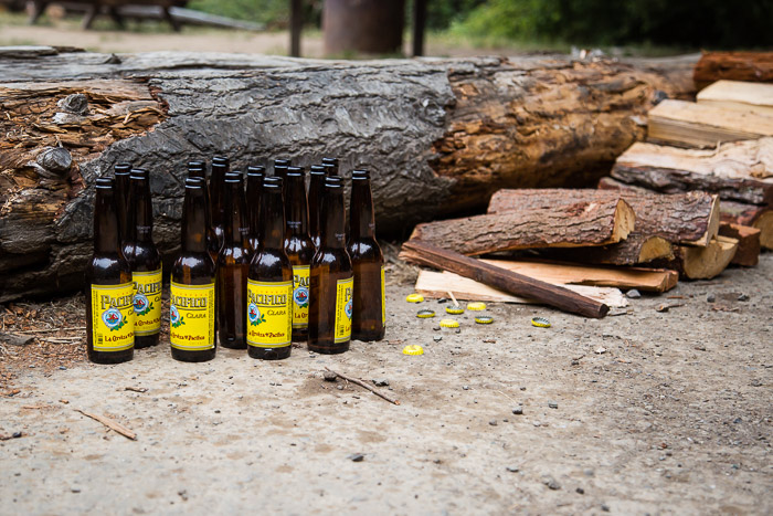 Camp leftovers, Pacifico Beer and Firewood at Van Damme State Park | LOST NOT FOUND | Mendocino CA Camping Weekend