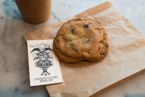 Cookie at Culture Coffee in NYC Garment District | LOST NOT FOUND | NYC | Garment District | Fabric Stores NYC | Craft Stores NYC| NYC Fashion #GarmentDistrict #FabricStoresNYC #NYC