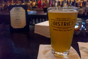 Beer at District Tap House in NYC Garment District | LOST NOT FOUND | NYC | Garment District | Fabric Stores NYC | Craft Stores NYC| NYC Fashion #GarmentDistrict #FabricStoresNYC #NYC