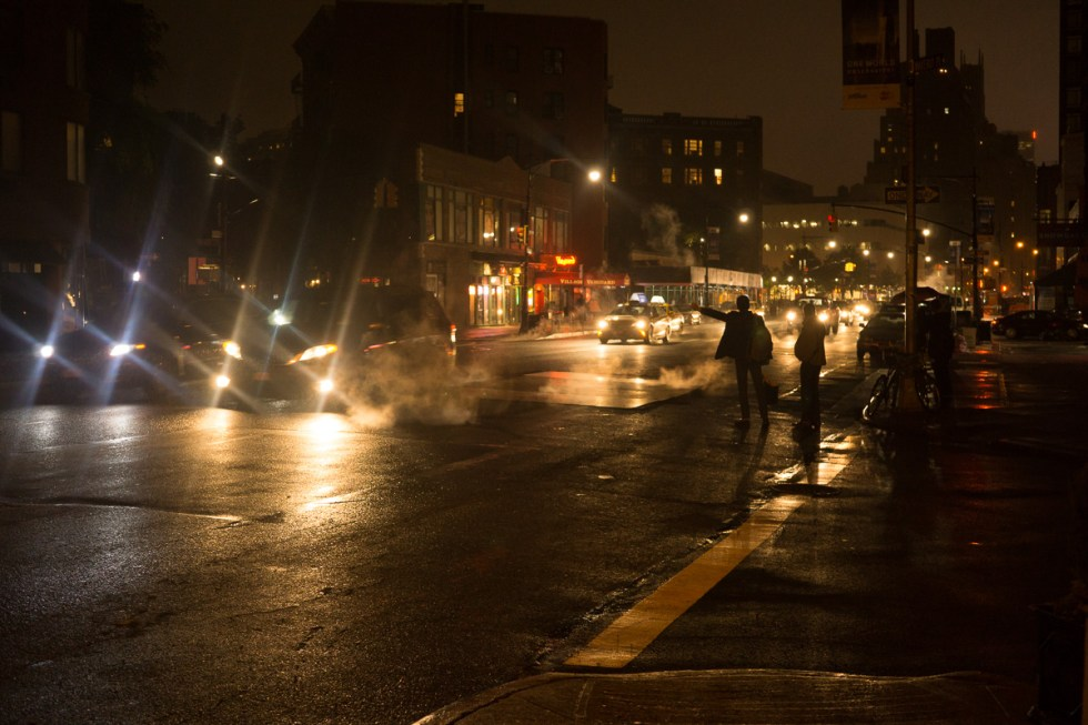 People hailing a cab at night in Manhattan NYC | LOST NOT FOUND | NYC through a Local's Eyes - A Photo Essay