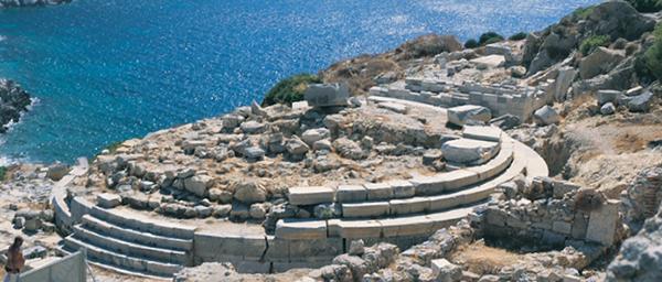 Tempel op Cnidus waar ooit de Venus van Cnidus van Praxiteles stond.