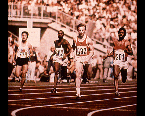 072 - Sprinters (Valeri Borzov of the USSR in lead), History of the Olympics, Picturepoint, London