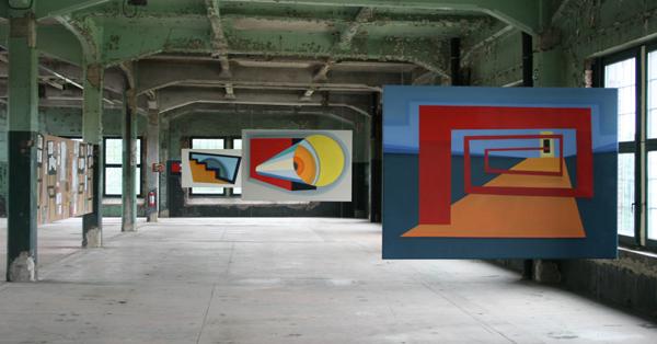 Magdalena Jitrik - Revolutionary Life - Installatie met tekenigen en olieverfschilderijen op doek