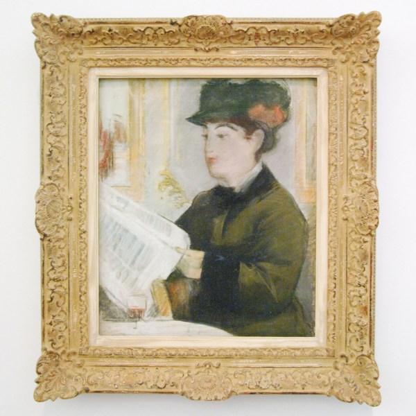 Edouard Manet - Lezende vrouw - Pastel op doek, 1881