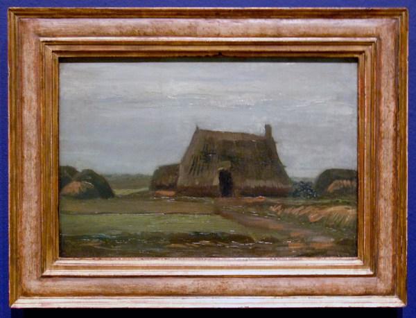Vincent van Gogh - Boerderij met turfhopen - Olieverf op doek, 1883