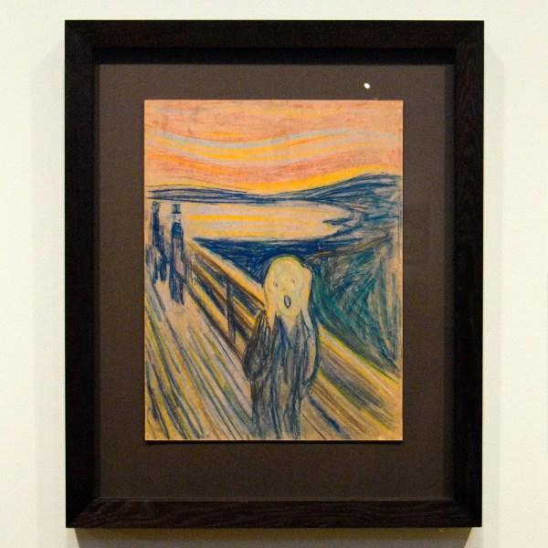 Edvard Munch - De Schreeuw - Kleurkrijt op karton, 1893