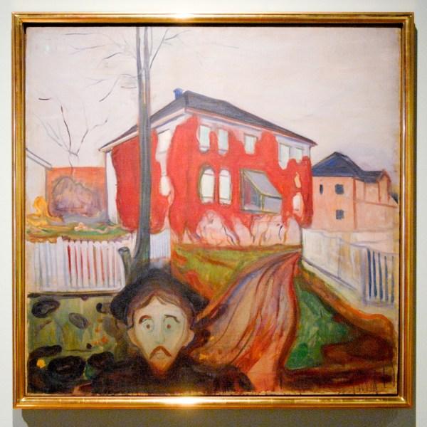 Edvard Munch - Rode wingerd - Olieverf op doek, 1898-1900