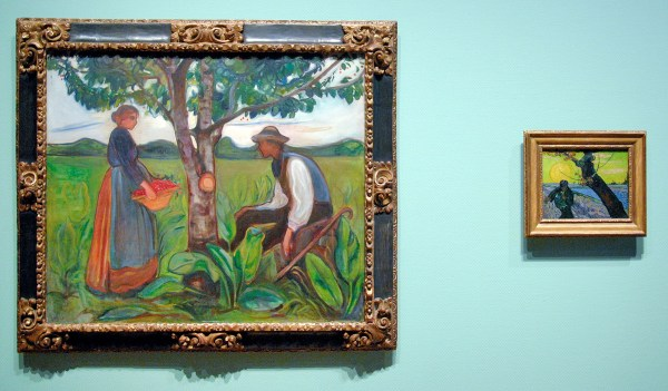 Edvard Munch - Vruchtbaarheid - Olieverf op doek, 1899-1900 & Vincent van Gogh - De Zaaier - Olieverf op doek, 1888