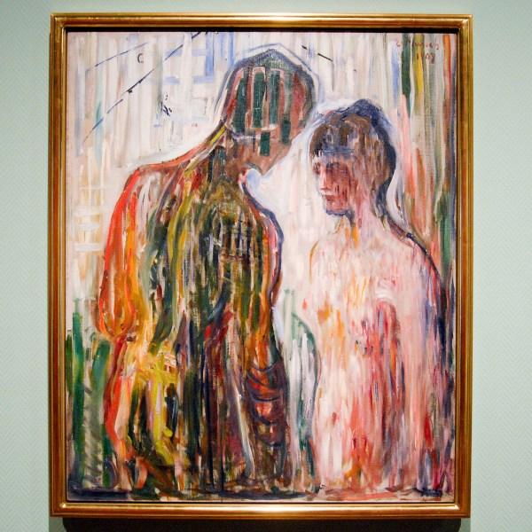 Edvard Munch - Amor en Psyche - Olieverf op doek, 1907