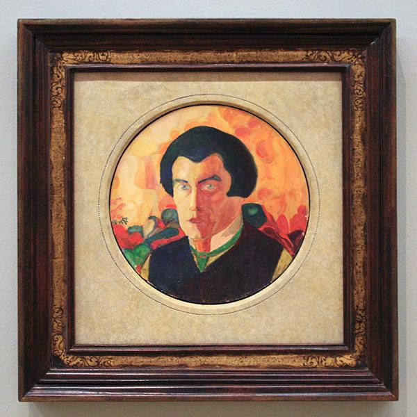 Kazimir Malevich - Zelfportret - Gelakt gouache, aquarelverf en potlood op papier 1910