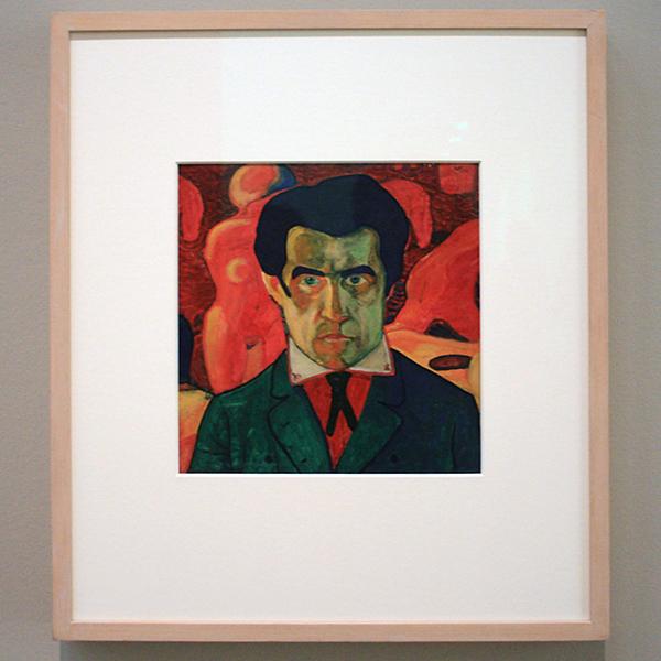 Kazimir Malevich - Zelfportret - Gouache op papier 1910