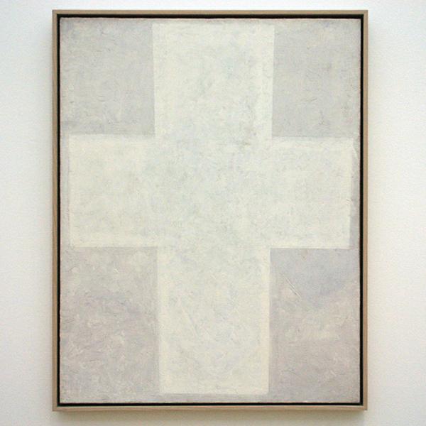 Kazimir Malevich - Wit Suprematisch kruis - Olieverf op doek 1920