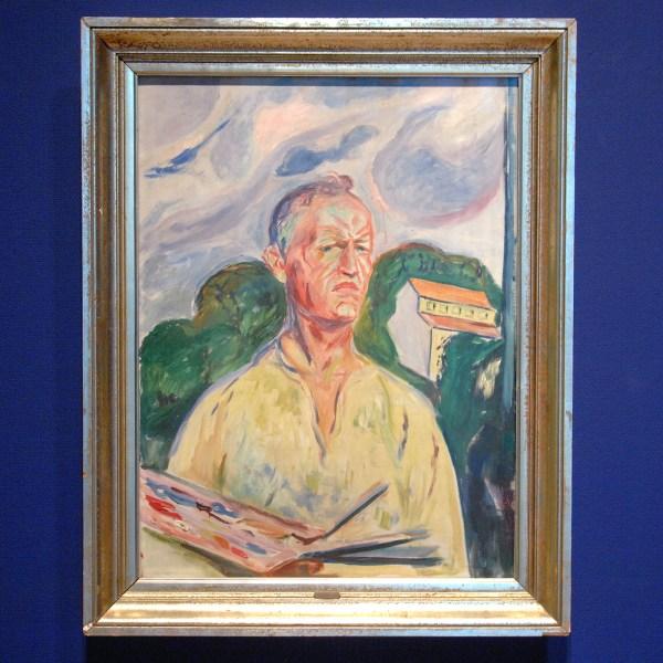 Edvard Munch - Zelfportret met palet - Olieverf op doek, 1926