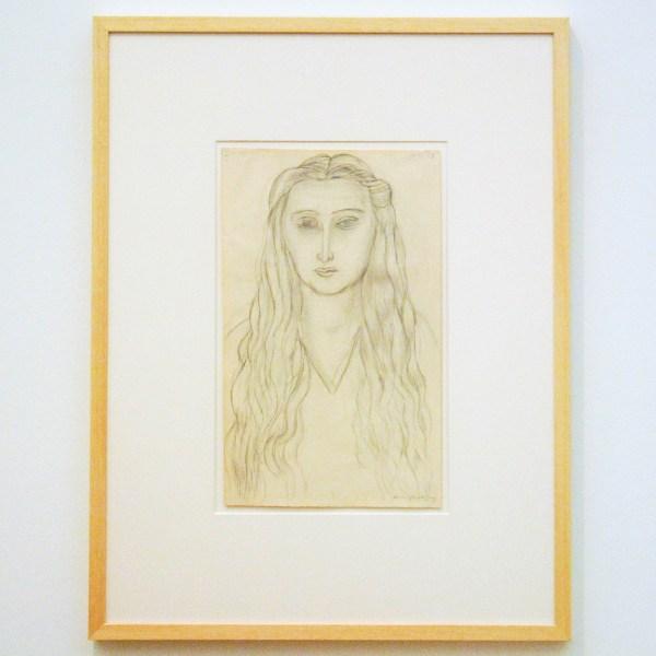 Henri Matisse - Portret van een vrouw met losgeknoopt haar - Potlood op papier, 1933
