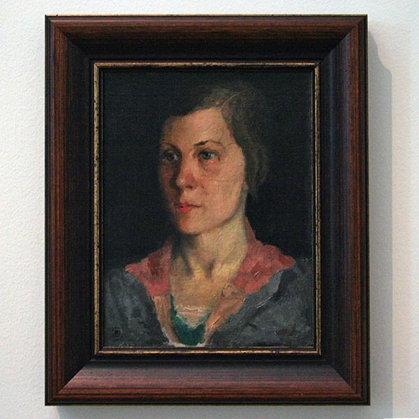 Kazimir Malevich - Portret van de vrouw van de kunstenaar - Olieverf op doek 1933