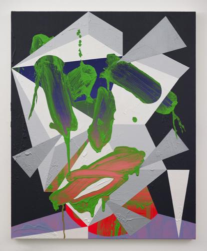 Luke Rudolf - Portrait No 17 - 81cm x 66cm acryl en olie