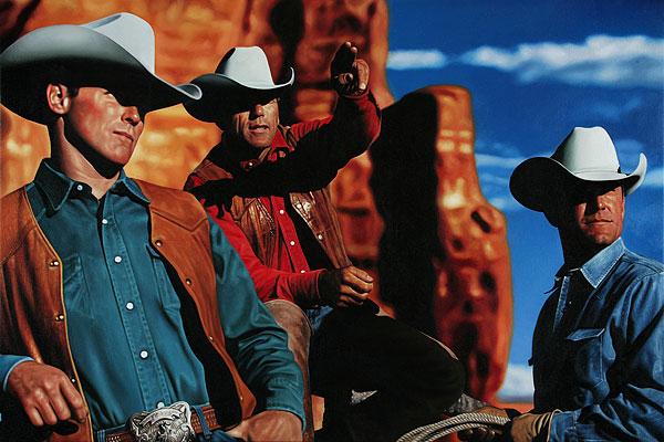 Cowboy #4 - 180x120cm Olieverf