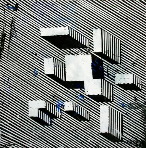 Futurism that way (Département des Aigles) - Olieverf 80x80cm