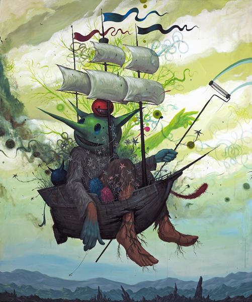 Last Voyage - Acryl op paneel 183x152cm