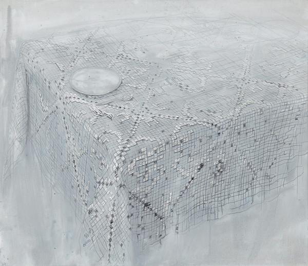 Material  - Acryl en draad 102x118cm