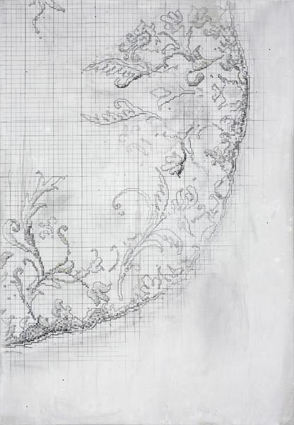 Servile - Acryl en draad 180x124cm