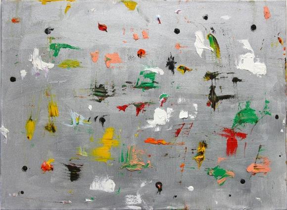 Trouble spot painting - Olieverf en acrylverf 45x61cm