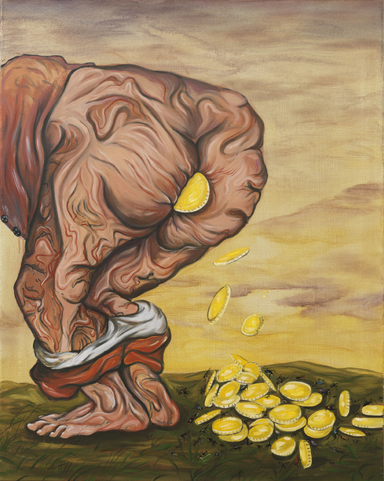 Untitled (Priceless Arse) - 92x73cm Olieverf 2010