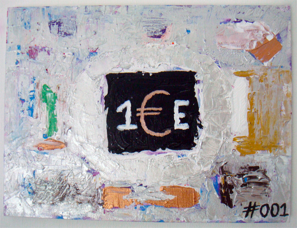 1 euro schilderij, #1.