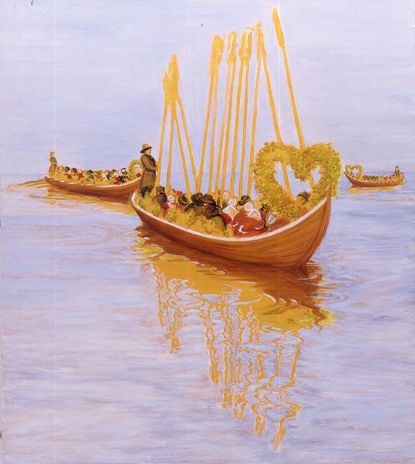 Church Boats - 137x122cm