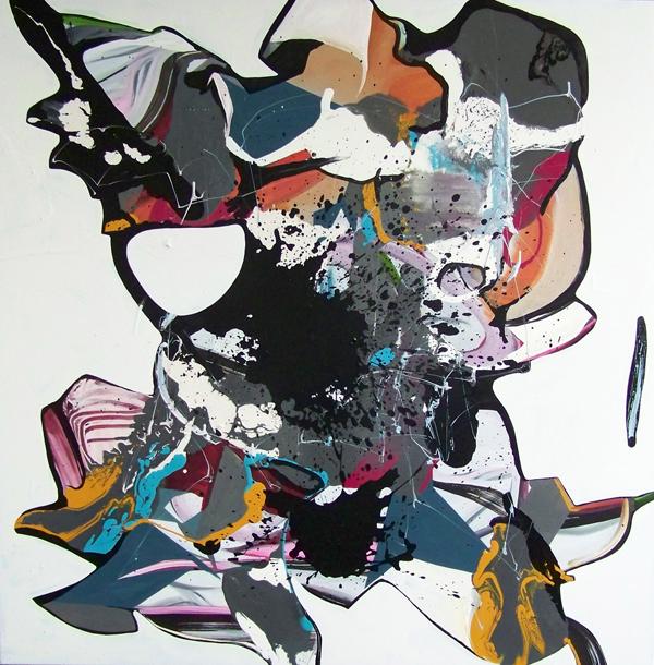 DCD - 170x170cm olie- en lakverf op canvas