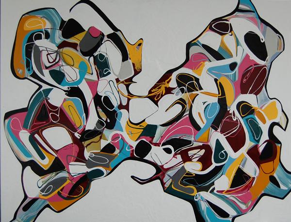 DMM - 180x139cm olie- en lakverf op canvas