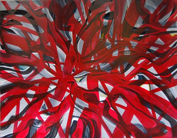 GRA - 180x140cm olie- en lakverf op canvas