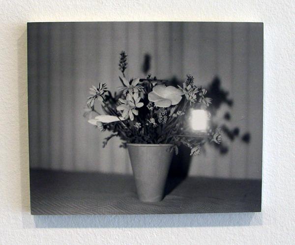 Lydia Weijers - Zonder (titel bloemen in vaas) - 19x23cm Zilvergelatine print op aluminium