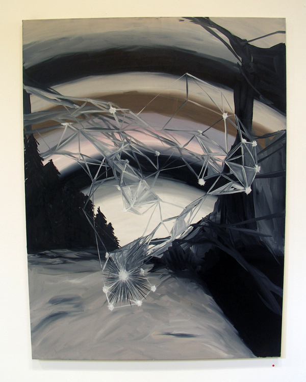 Martien van den Hoek - Landscape Galore - 120x90cm Olieverf op canvas