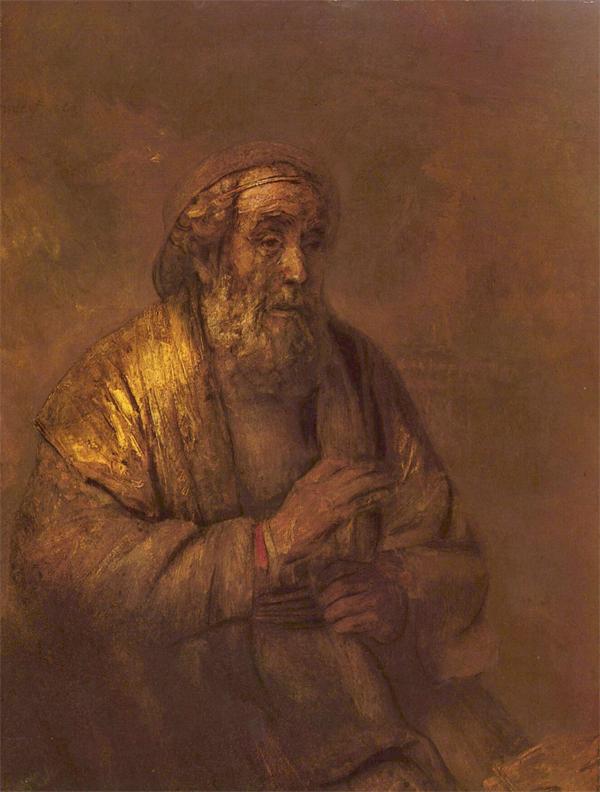 Homerus - 107x82cm Olieverf