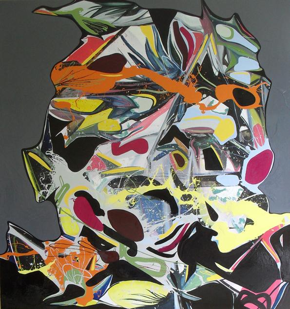 TLR - 150x160cm olie- en lakverf op canvas
