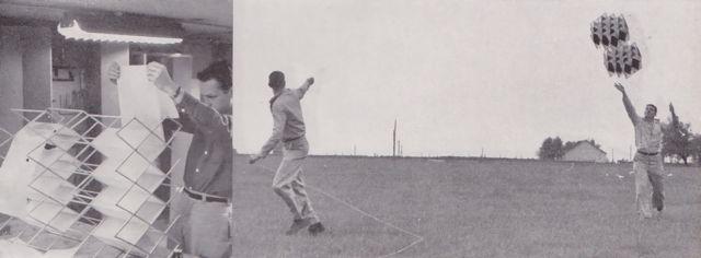 """via ButDoesItFloat die het weer van Mondoblogo had, vliegers gemaakt op University of Illinois """"Kite Derby Day,"""" 1957. En daar zitten best wel wat kunstig gemaakte vliegers tussen. Jammer dat […]"""